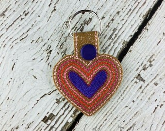 Heart Keychain - Bag Tag - Small Gift - Gift for Her - Thank You Gift - Bag Accessory - Zipper Pull