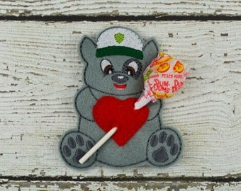 Rocky Sucker Holder - Paw Patrol Inspired - Small Gift - Class Gift - Valentine's Day - Lollipop Holder - Party Favor - Thank You Gift