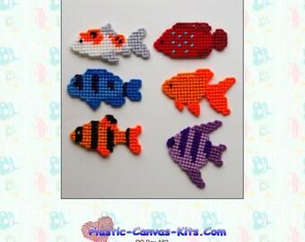 Fish Magnets-Plastic Canvas Pattern-PDF Download