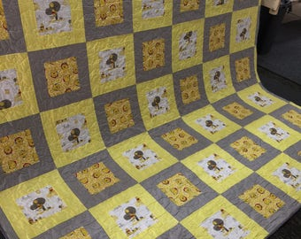 Handmade Winnie the Pooh Quilt - You choose size