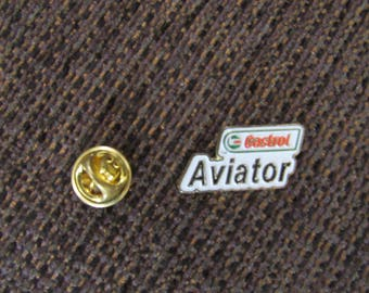 Vintage Castrol Aviator Lapel Pin Free Shipping