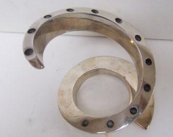 Modernist Dansk Designs Spiral candleholder. Silver plate. 1965. Vintage