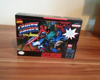 SNES Captain America and the Avengers - Replacement Box and Insert NO Game Included