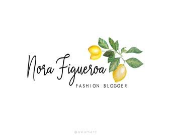 Blogger Logo, Fashion Blogger, Logo Design, Premade Logo, Custom Logo Design, Calligraphy Logo, Pre Made Logo, Watercolor Logo, Custom Logo