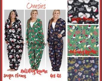 Adult Onesie Adult Christmas Onesie Fleece by GiftsfortheGirls