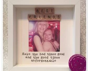 Best friends scrabble inspired frame