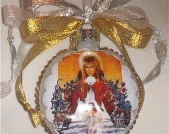 Labryinth inspired tribute Glass Christmas Ornament 2