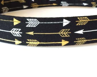 Silver and Gold Arrow Dog Collar ~ Boy Dog Collar ~ Matching Leash Available