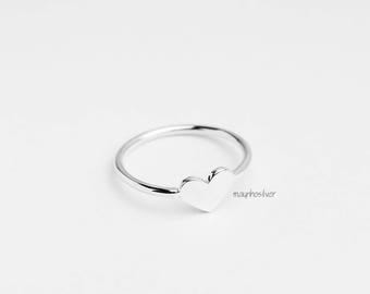 Heart ring | Simple ring | Bridesmaid Gift | Love | Romantic | Gift for Her | Girlfriend