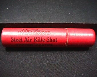 Antique Full Tube of Western Steel Air Rifle Shot