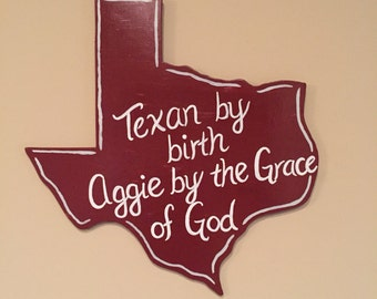 Texas Aggie's Wall Sign
