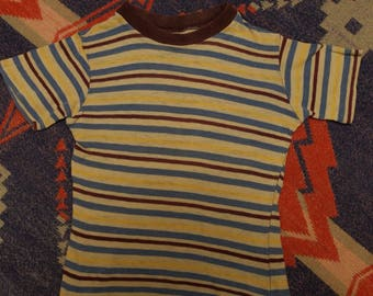 Vintage 1950s 50s 60s striped t shirt tee