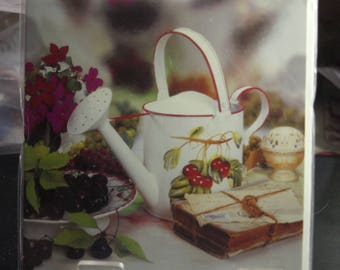 Watering Can with Cherries General Card