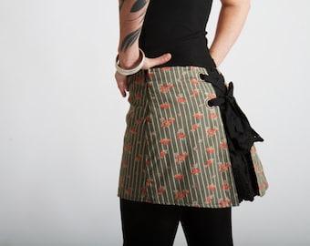 JUDITH ultra mini bustle skirt