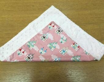 Large Comfort Blankie Princess Castle Fabric CE tested Supersoft Fleece