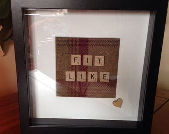 Picture Frame, Fit Like, Picture, Frame, Scrabble Art, Scrabble Fit Like, Doric, Tartan Picture