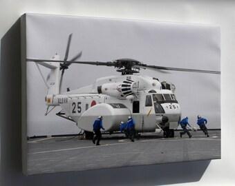 Canvas 24x36; Mh-53E Mh-53 Sea Dragon Helicopter H-53
