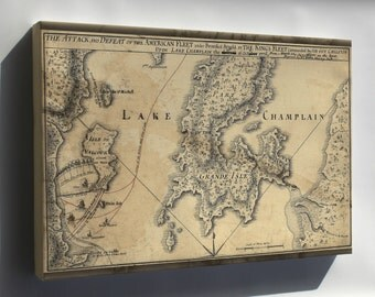 Canvas 24x36; Map Of Benedict Arnold On Lake Champlain 1776 P1