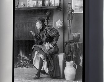 Canvas 24x36; Frances Fannie Benjamin Johnston C1896