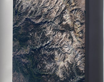 Canvas 24x36; Yosemite National Park From Space
