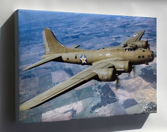 Canvas 16x24; B-17 Flying Fortress