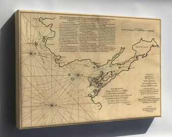 Canvas 16x24; Map Of Halifax Harbor Nova Scotia Canada 1768
