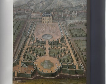 Canvas 16x24; A French Estate 18Th Century Park View
