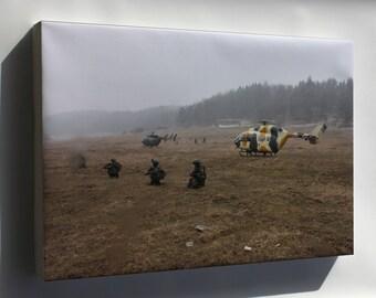 Canvas 16x24; U.S. Army Uh-72 Lakota Helicopters