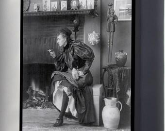 Canvas 16x24; Frances Fannie Benjamin Johnston C1896