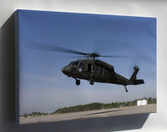 Canvas 16x24; Uh-60 Black Hawk Helicopter Gulfport Miss