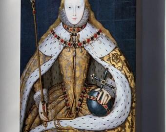 Canvas 16x24; Queen Elizabeth I In Her Coronation Robes,  Tudor