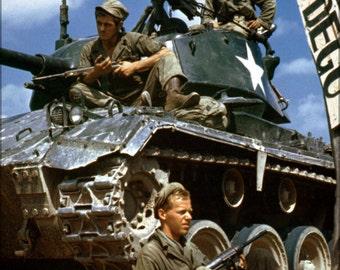 16x24 Poster; Ha Sc 98 06983 Crew Of M24 Along Naktong River Front Korean War 17 Aug 1950.Jpeg_Files