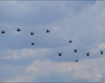 16x24 Poster; A Lot Of Royal Netherlands Air Force Helicopters In The Air