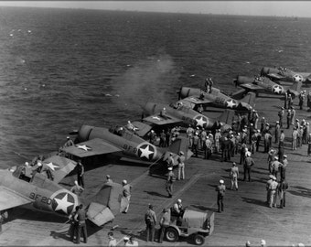16x24 Poster; F4F-4 Wildcat Vf-9 And Vf-41, Uss Ranger (Cv-4) 1942