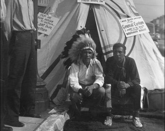 16x24 Poster; Indians Sitting In Front Of Teepee Picketing Warner Bros Nara 285852
