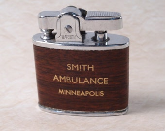 Smith Ambulance Advertising Lighter made by Warren in Japan