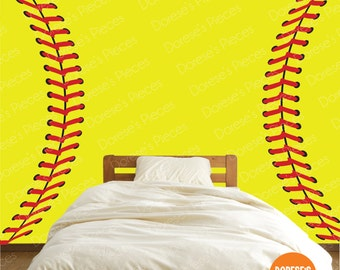 Realistic Softball Stitches / Laces and other Sports Designs for your Kid's Bedroom