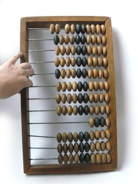 gigantic abacus of giant Big Vintage wooden abacus Large