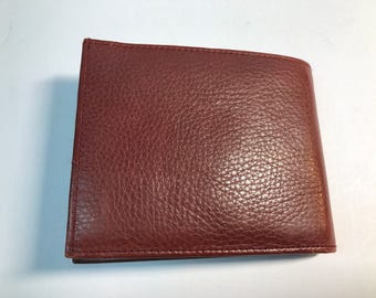 Buxtown brown leather bifold wallet