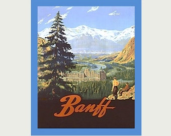 Banff Decal - Vintage Style Decal | Banff Sticker -Banff Car Decal - Banff RV Decal - Banff Laptop Sticker - Banff Souvenir Decal - S115