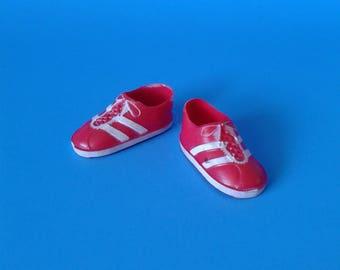 "Vintage Kenner "" Six Million Dollar Man Sneaker Shoes HTF RARE "" 1970's"