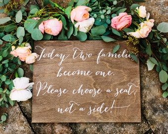 Wedding Seating Sign - Wooden Wedding Signs - Wood