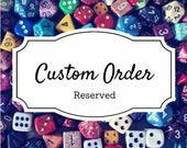 Custom Order for Tina
