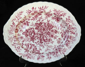 Grindley Serving Platter in the Red Printemps pattern
