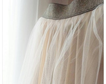 ♡ kick: skirt in tulle customizable (e.g. 4 skirts made on request)