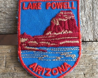 Lake Powell Arizona Vintage Souvenir Travel Patch from Voyager - LAST ONE!