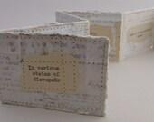 Artist's Book, Artist's Books, Miniature Artist's Book, Miniature Book, handmade book, accordian binding