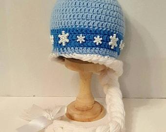 Frozen Elsa crochet hat