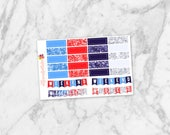 July Quarter Boxes and Weekend Banners | Planner Stickers for Erin Condren Life Planners, Happy Planners, Personal Planners & more!