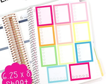 LS245 Summer Heart Full Box Stickers.  Perfect for the Erin Condren Life Planner!!!